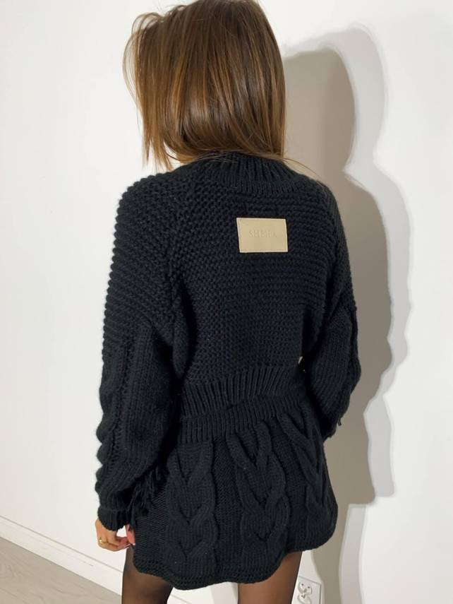 BLACK SWEATSHIRT NOMADE  WITH LOGO | SHEILA AW20