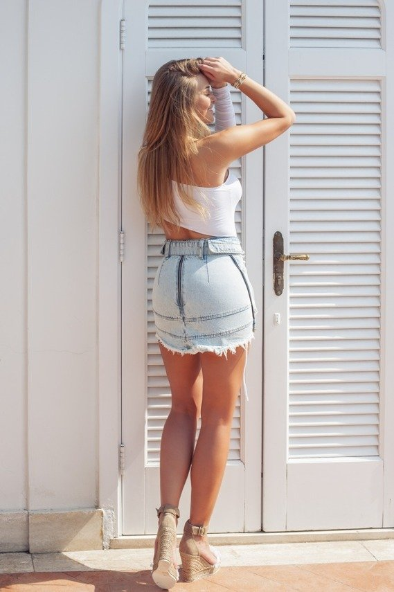 DENIM  by SHEILA SKIRT